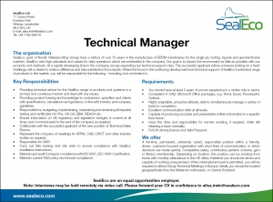 Vacancie Technical Manager